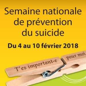 Semaine nationale de prévention du suicide 2018
